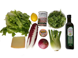 Winter Greens Salad Ingredients