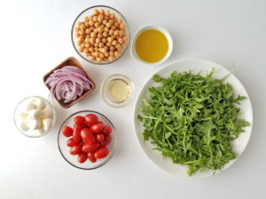 Arugula, Chickpea and Bocconcini Salad