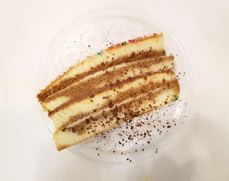 Italian Birthday Cake Slice